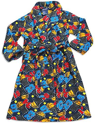 MacHenry Originals - Little Boys Microfiber Basketball Print Robe, Navy 30261-3T