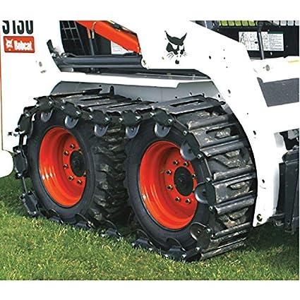Amazon.com: tracksplus Acero skid-steer pistas para Bobcat ...