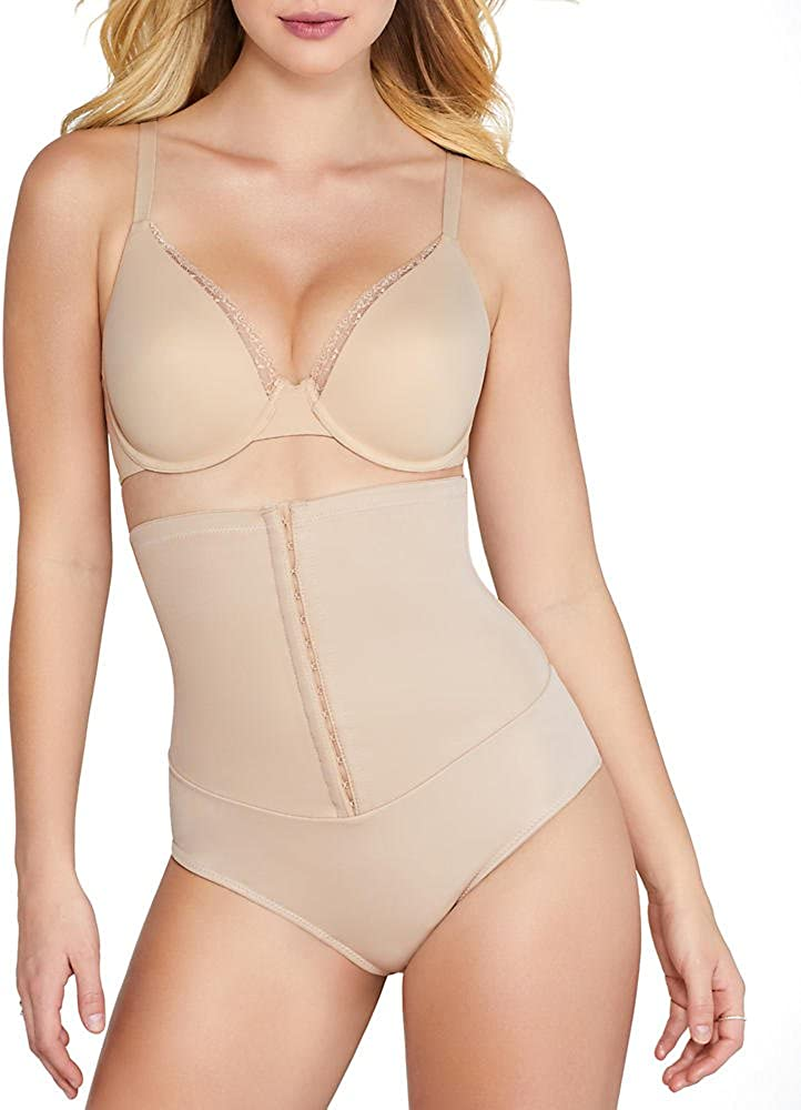 Miraclesuit Shapewear Womens Inches Off Hook & Eye Waist Cinching Thong
