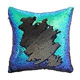 Play Tailor Mermaid Pillow Case, Magic Reversible Sequin Pillow Cover Throw Cushion Case 16'X16'