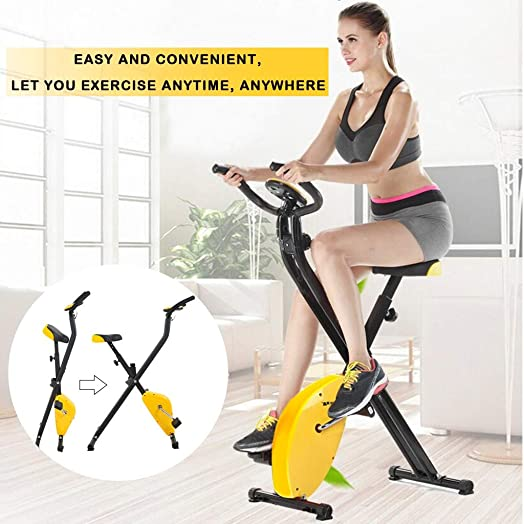 Folding Exercise Bike Home Cycling Magnetic Trainer Fitness Stationary Machine Max 264lb