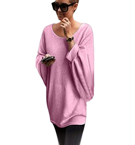 Pullover Oversize Donna Casual Sciolta Maglietta Maniche Lunghe a Pipistrello Sweatshirt Street Cami...