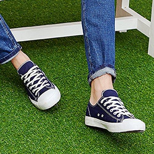 basse Size Blue scarpe uomo da uomo 36 casual stile Scarpe scarpe da Black stile coreano Color basse in tela uomo Nuove di YaNanHome scarpe Espadrillas scarpe da qxSUFpU