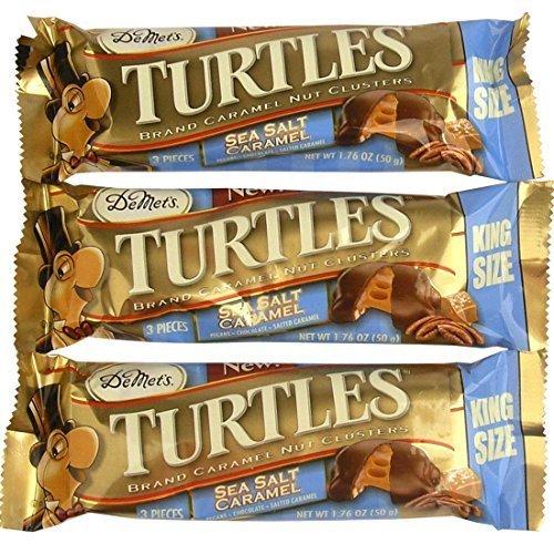 Demet's Chocolate Turtles Sea Salt Caramel Cluster 3-piece King Size Bars - 24 Ct. Case by DeMet's by Turtles