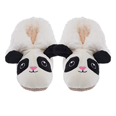 66fd9756b Yelete Plush 3D Animal Slippers Cute Fuzzy Soft Sherpa Boots Kids Toddlers  Girls
