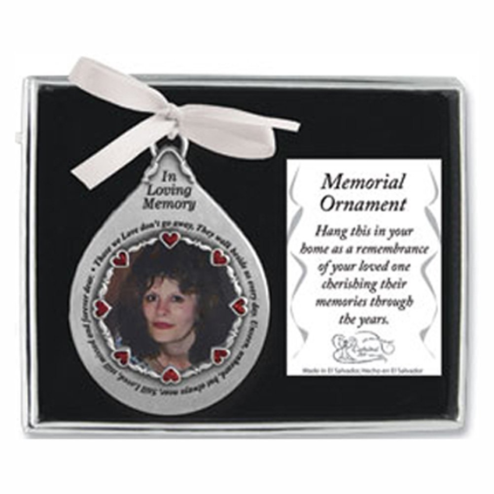 In Loving Memory PEWTER Photo Frame ORNAMENT - ''THOSE We Love Don't Go Away - They Walk Beside Us Everyday - Memorial of Deceased LOVED ONES/Gift/KEEPSAKE/Memorium GIFT-BOXED by ca