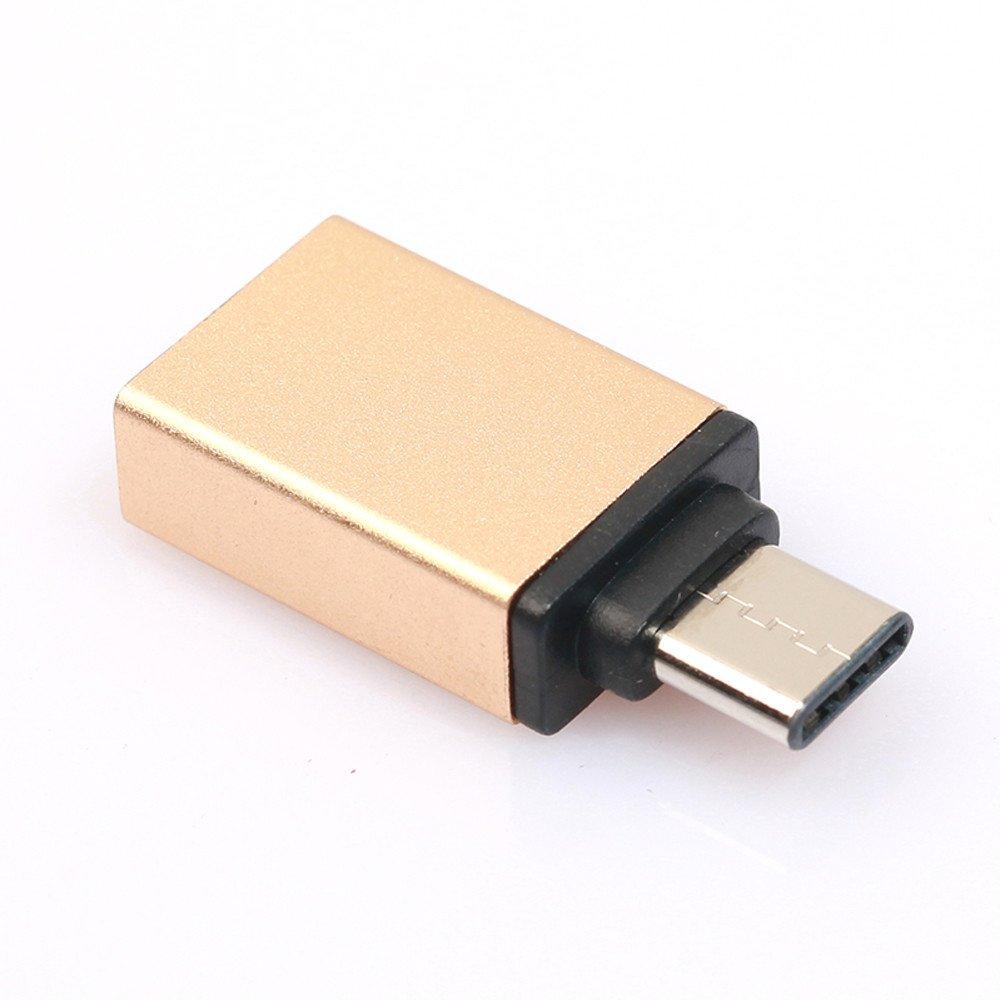 Liqiqi USB Tipo C Macho a USB-A 3.0 Hembra OTG Adaptador de ...