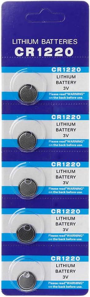 Weishazi Knopfzelle Cr1220 Liium Knopfzelle 1 55 V Dl1220 Br1220 Lm1220 Cr 1220 Elektronischer Uhren Spielzeug 5 D Küche Haushalt