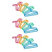 Ikea BAGIS Children's coat-hanger, assorted colors- (24 Pack) by BAGIS