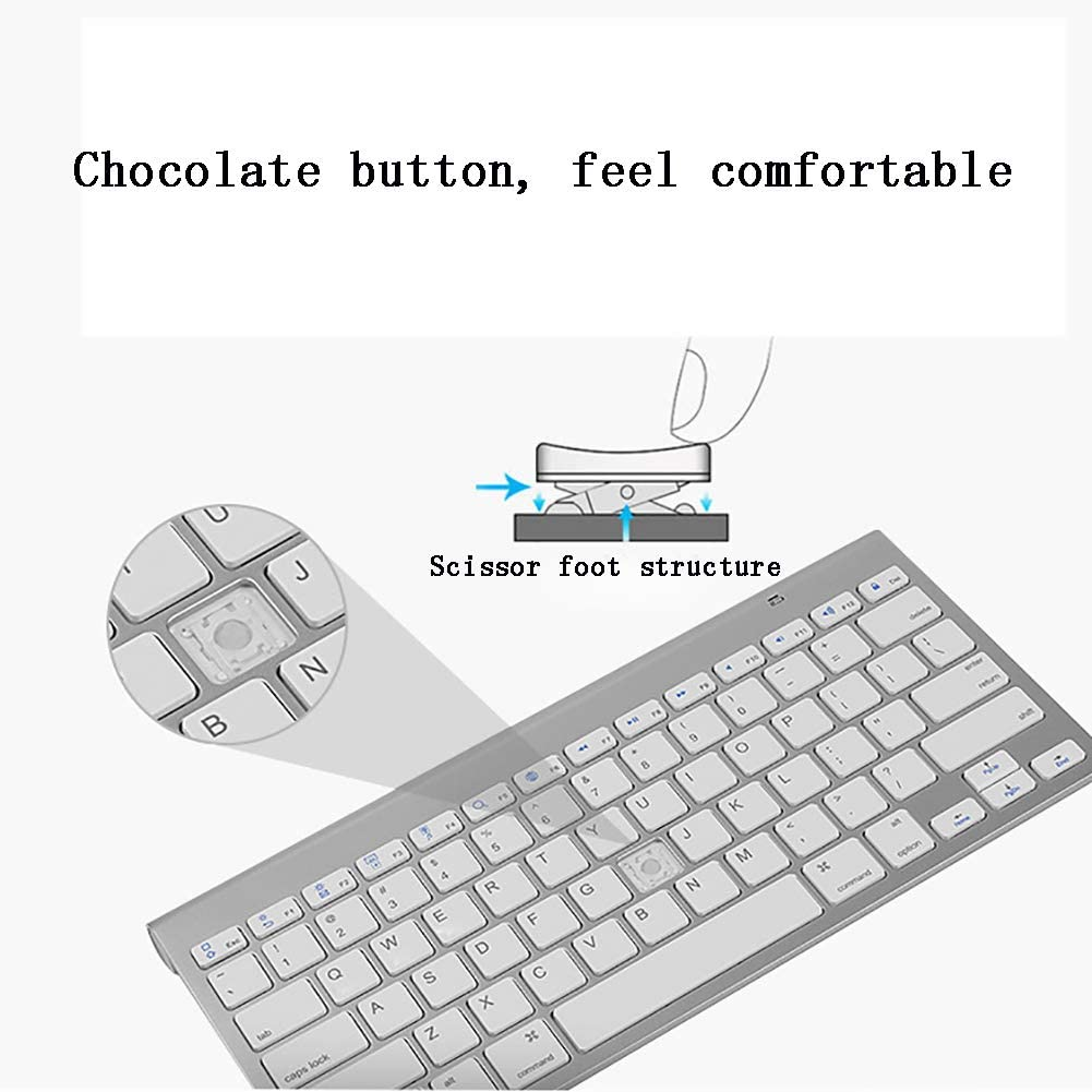 DEYE Wireless Keyboard and Mouse Combo 2.4G Wireless Keyboard Full Size Keyboard and Ergonomic Mice for Computer//Desktop//PC//Laptop and Windows10//8//7