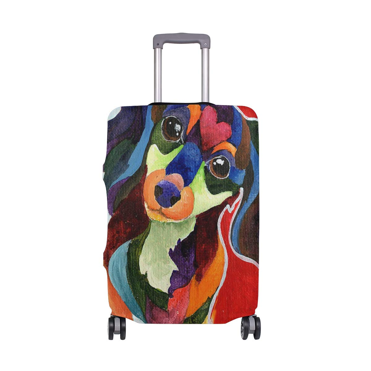 Puppy Love Long Haired Travel Luggage Cover Suitcase Protector Fits 18'' - 32''