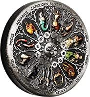 2020 TV Modern Commemorative PowerCoin Signs Of The Zodiac 5 Oz Silver Coin 5$ Tuvalu 2020 Antique Finish
