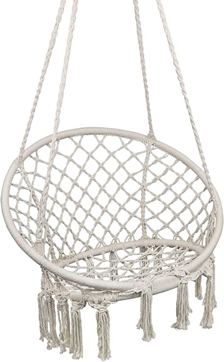 Amazon Com Hammock Chair Macrame Swing Hanging Chair For