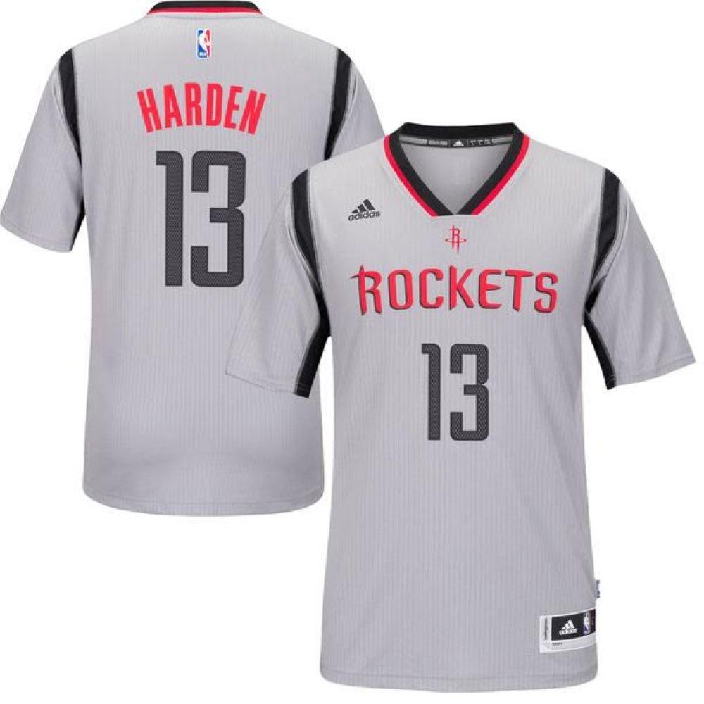 Youth Houston Rockets James Harden adidas Gray New Swingman Alternate Jersey