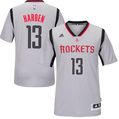 b2754e4be25 adidas Youth Houston Rockets James Harden Gray New Swingman Alternate Jersey  (Youth Small (8