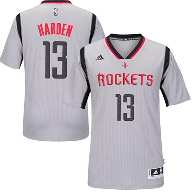 Amazon.com  adidas Youth Houston Rockets James Harden Gray New Swingman  Alternate Jersey (Youth Small (8))  Clothing cfe5f327b