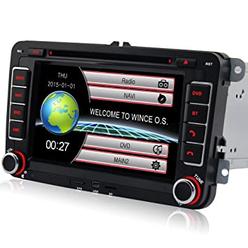 A de Sure DVD BT GPS VW Radio de Coche USB SD SWC-50 para ...