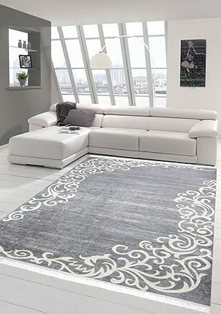 Merinos Teppich Floral Designerteppich Wohnzimmerteppich Waschbar In