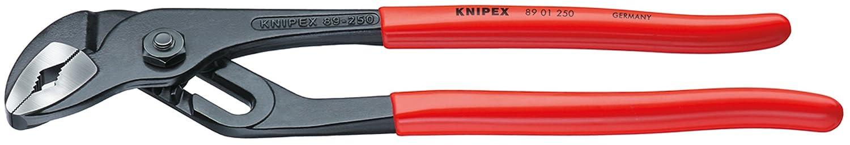 KNIPEX 89 01 250 Wasserpumpenzange mit Rillengelenk schwarz atramentiert mit Kunststoff ü berzogen 250 mm