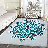 Arabian Area Rug Carpet Illustration of Old Eastern Arabesque Ethnic Antique Oriental Damask Round Motif Customize door mats for home Mat 2'x3' Multicolor