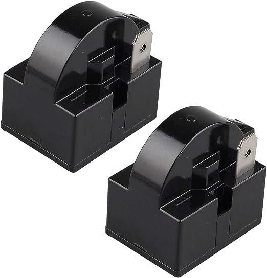 Futheda 2 Stück 15 Ohm 220 V Ein Pin Ptc Starter Relais 1 Pin Ptc Kühlschrank Gefrierschrank Kompressor Starter Kühlschrank Zubehör Für Kühlschrank Schwarz Elektro Großgeräte