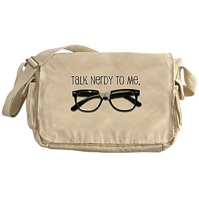 CafePress - Talk Nerdy To Me<Br> - Unique Messenger Bag, Canvas Courier Bag