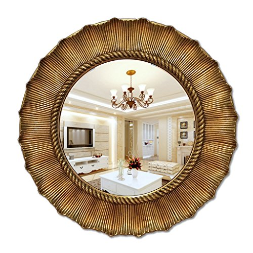 HTTDIANAA Makeup Mirror Round Bathroom Mirror, Sunny Fireplace, Dining Room, Decorative Entrance, -