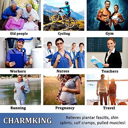 CHARMKING Compression Socks for Women & Men (3 Pairs) 15-20 mmHg is Best Athletic, Running, Flight, Travel, Nurses,Edema