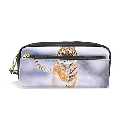 Eslifey Running Tiger - Estuche portátil de piel sintética ...
