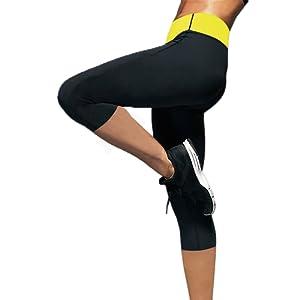 De caoutchouc de chloroprène thermique positive mise en forme de transpiration thermique pantalon le gymnase de sauna de yoga legging pantalon pour femme de perte de poids d'exercice