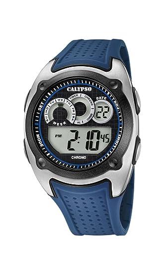 Calypso Reloj Digital para Hombre de Cuarzo con Correa en Plástico K5722/3: Calypso: Amazon.es: Relojes