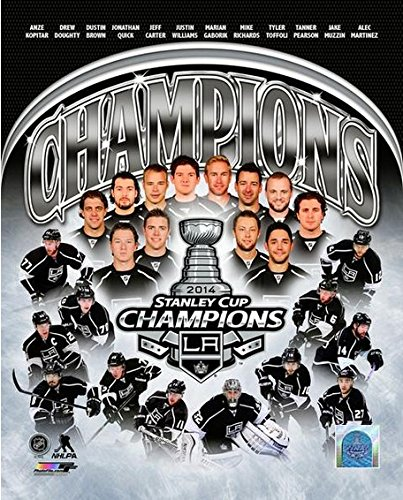 """Los Angeles Kings 2014 NHL Stanley Cup Champions Team Composite Photo (Size: 8"""" x 10"""")"""