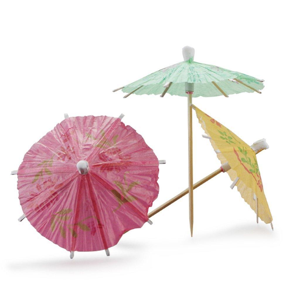Sky Fish Drink Parasol Cocktail Parasol Paper Umbrella Straws Umbrella Decorate Parasol Apply to weddings or parties and so on Color random 20pcs