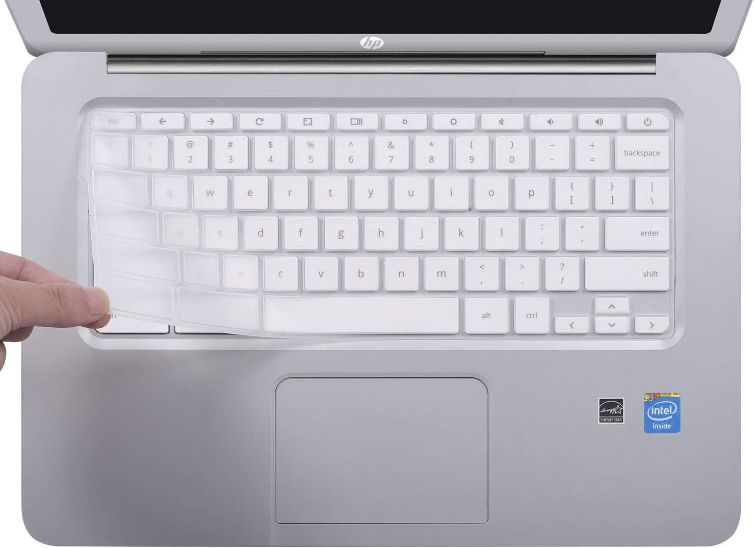 Keyboard Cover for HP 14 inch Chromebook/HP Chromebook 14-db Series/HP Chromebook 14-ca Series/HP Chromebook 14-ak Series/HP Chromebook 14 G2 G3 G4 G5, Clear