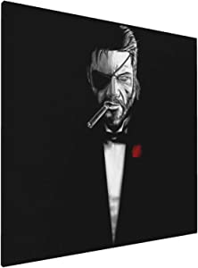 1007 Canvas Prints Wall Art Paintings(20x20in) Metal Gear Solid The Bossfather The Godfather Pictures Home Office Decor Framed Posters & Prints