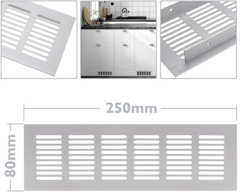 Grille de Ventilation pour plinthes Base en Aluminium 250x80mm PrimeMatik