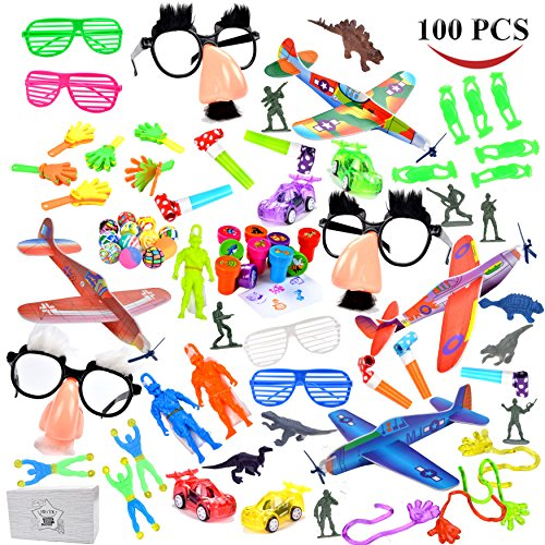 Joyin Toy Over 100 Pc Party Favor Toy Assortment for Kids Party Favor, Birthday Party, School Classroom Rewards, Carnival Prizes, Pinata Fillers, Easter Egg Stuffers