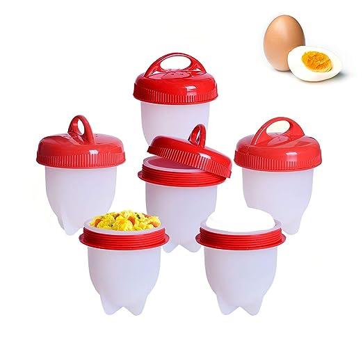 Cocedor Huevos 6 Pcs,Egg Cooker Hard & Soft Maker Hervidor De ...