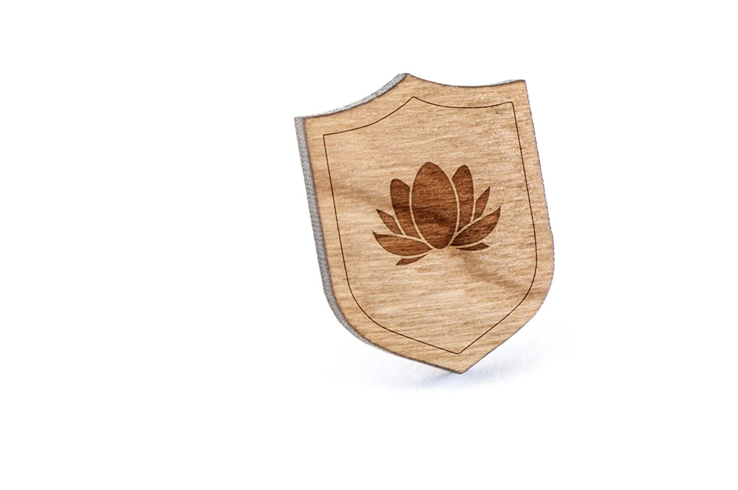 Lotus Lapel Pin, Wooden Pin Wooden Accessories Company lotus-pin