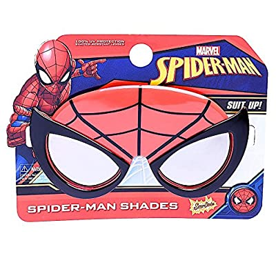 Sun-Staches Costume Sunglasses Marvel Lil' Characters Spiderman Party Favors UV400: Toys & Games