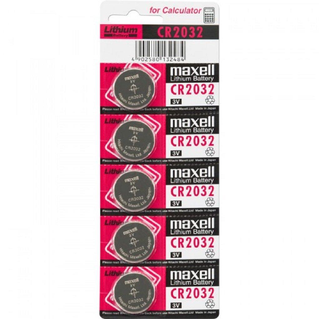 Maxell CR2032 3V - Pilas (Litio, Button/coin), paquete de 5