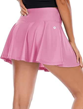 Gardenwed Pleated Tennis Skirts for Womens Athletic Golf Skorts Activewear with Pockets High Waisted