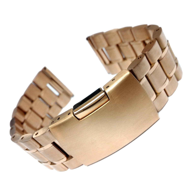 20ミリメートル固体ステンレス鋼の腕時計のブレスレットバンドローズゴールド  B06XGRW1G1
