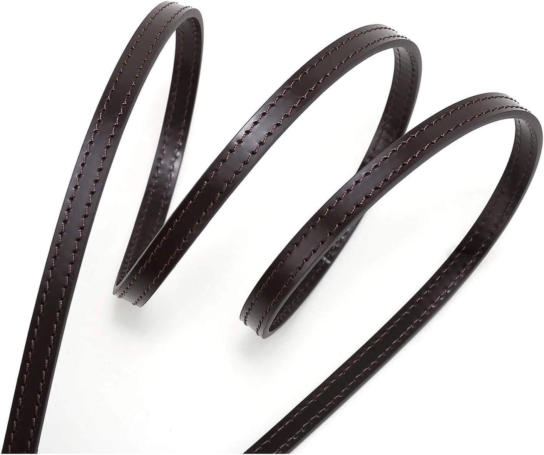 10mm Coated Dark Brown Leather Cross Body Strap for Damier Ebene Pochette Eva Favorite PM MM Mini