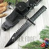 FIXED BLADE KNIFE Mtech Hunting Combat Survival Kit Bayonet Military HK 56142BB razor sharp + FREE eBOOK by MOON KNIVES!