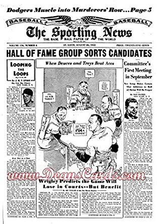 The Sporting News August 26 1953 53 Dodger Sluggersted