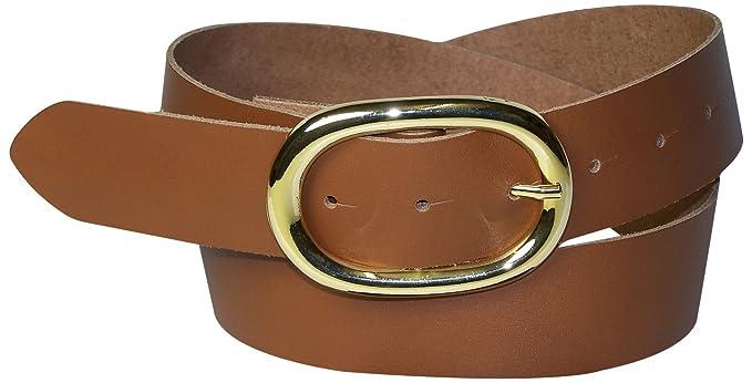 1f4782209fbdfe Fronhofer Damengürtel goldene Schnalle oval, 4 cm Gürtel Damen echt Leder  schwarz, braun,