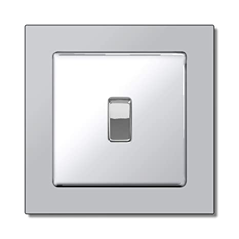 pack of 5 SINGLE LIGHT SWITCH SURROUND FINGER BACK PLATE CLEAR PLASTIC