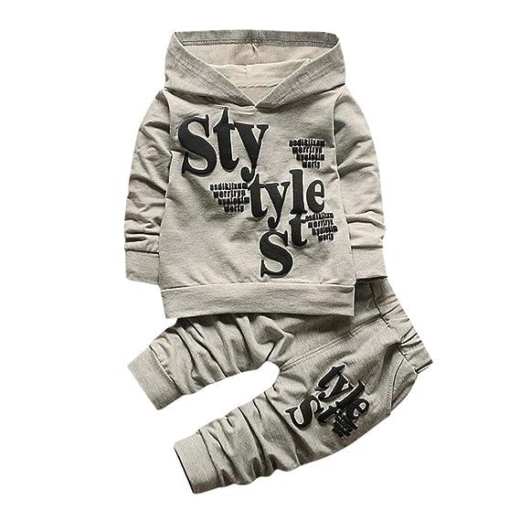 Baby Boy Denim Kleidung Set Langarm-Mantel und lange Jean Hosen Kleidung f/ür 0-4 Jahre alt