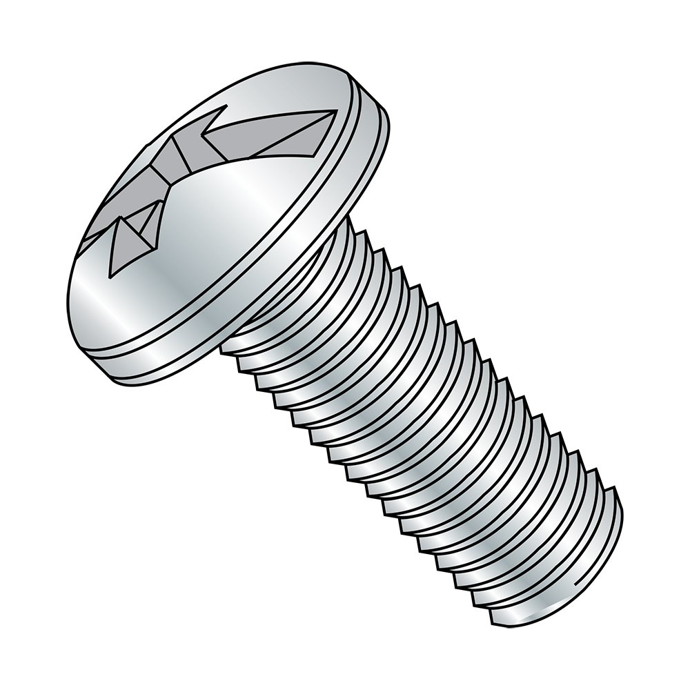 Meets ASME B18.6.3 #8-32 Thread Size #2 Combination Philllips-Slotted Drive Pack of 100 Imported 5//8 Length Fully Threaded Steel Pan Head Machine Screw Zinc Plated